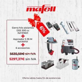 Promoción Mafell Sierra hilo aislantes DSS 300 cc & Aspirador S 35 M & Accesorios - 1