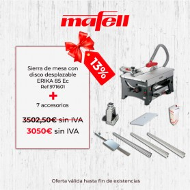 Promoción Mafell ERIKA 85 Ec & 7 accesorios - 1