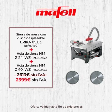 Promoción ERIKA 85 EC Mafell & Hoja de sierra HM Z 24 & Z 40