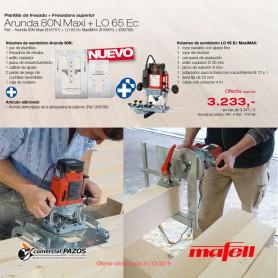 Fresadora superior LO 65 Ec MaxiMAX + Plantilla de fresado Arunda 80N Maxi Mafell - 1
