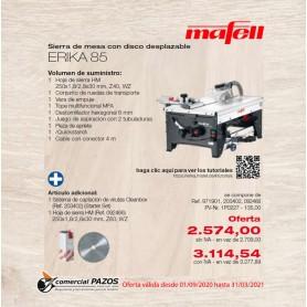 Sierra de mesa con disco desplazable ERIKA 85 Mafell - 1P0195 - 1