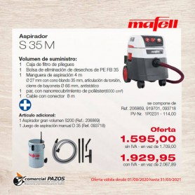 Promoción Aspirador S 35 M Mafell - 1P0231