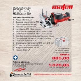 Promoción Sistema Duo Mechonador DDF 40 MaxiMAX Mafell - 1P0234