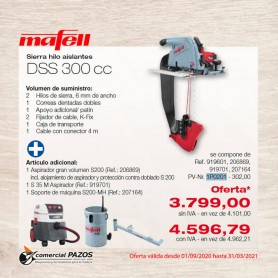 Sierra hilo aislantes DSS 300 cc Mafell - 1P0201 - 0