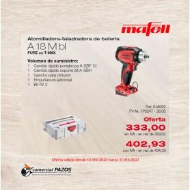 Atornilladora-taladradora de batería A 18 M bl PURE en T-MAX Mafell - 1P0247