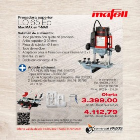 Fresadora superior LO 65 Ec MaxiMAX Mafell - Promoción 1P0284