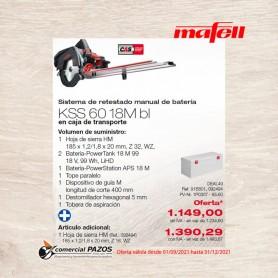 Sistema de retestado manual de batería KSS 60 18M bl en el maletín de transporte - 1P0307- Promoción Mafell