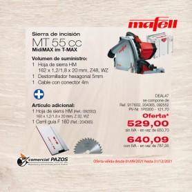 Sierra de incisión MT 55 cc en MidiMAX - 1P0300 - Promoción Mafell