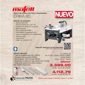 Sierra de mesa con disco desplazable ERIKA 85 Ec - 1P0312 - Promoción Mafell
