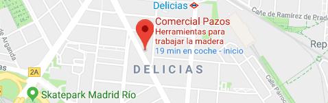 Mapa de localización de Comercial Pazos